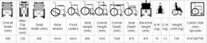 Aluminum Wheelchair Transport Wheelchair (Hz122-07-12) pictures & photos