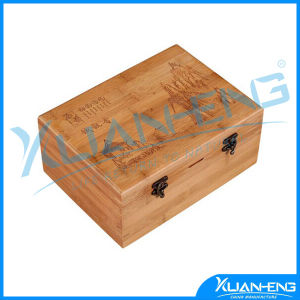 Natural Living Bamboo 3 Compartment Tea Box pictures & photos