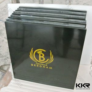 Custom Logo Square Artificial Marble Dining Table with Top Quality (T170822) pictures & photos