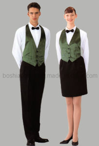 Elegant Hotel Uniform for Waitess of Good Quality (WU12) pictures & photos