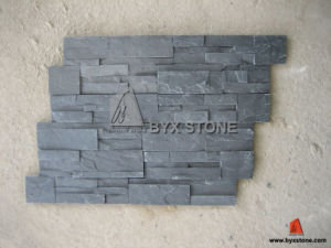 Black Slate Culture Stone for Garden and Wall Cladding pictures & photos
