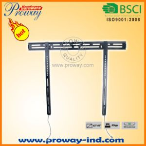 "Low Profile Super Slim Flat Panel TV Wall Mount for 42""-65"" LCD LED Plasma HDTV Flat Panel TV with Fingertip Tilt pictures & photos"