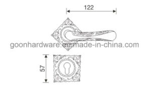 Zinc Alloy Door Handle on Rose - 551 pictures & photos