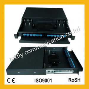 """Sc/FC/St Standard 19"""" 8 Cores Sc Port Fiber Optic Patch Panel (ODF) pictures & photos"""