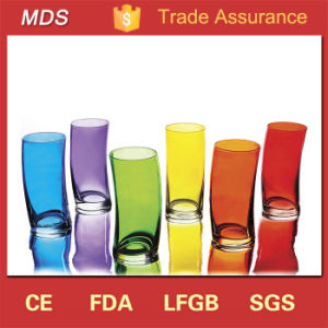 Unique Glassware Colored Curved Swing Glass Tumbler pictures & photos