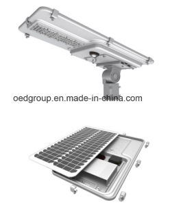 80W LED Solar Street Light with Batter and Solar Panel 150lm/W IP66 pictures & photos