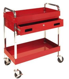Two Shelf Utility Cart with Drawer pictures & photos