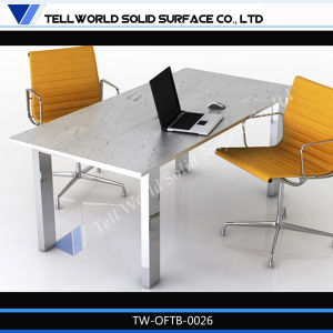 Commercial Artificial Marble Stone Home Office Desk for Office pictures & photos