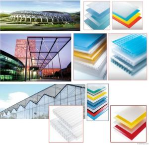 4X8 Clear Plastic Polycarbonate Hollow Roofing Sheet Sun Panel pictures & photos
