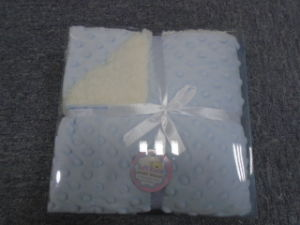 Diamond Shape Micro Mink with Sherpa Baby Blanket pictures & photos
