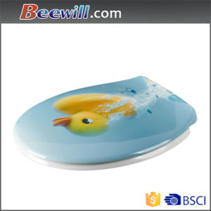 Soft Close Duroplast Printed Animal Toilet Seat pictures & photos