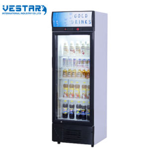 Glass Door Fridge Showcase with Outside Compressor pictures & photos