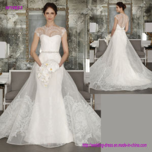 W18623 Sweetheart Neckline Sheath Wedding Dress with Organza Over The Dress pictures & photos
