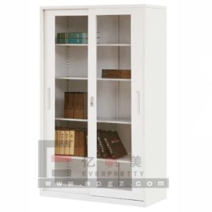 China Office Furniture Glass Doors Metal Office Filing Cabinet (DG-04) pictures & photos