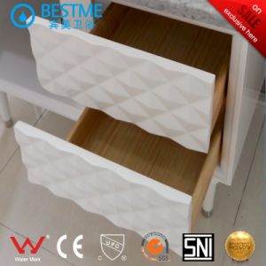 Floor-Mounted Solid Wooden Cabinet for Bathroom (BY-X7104) pictures & photos
