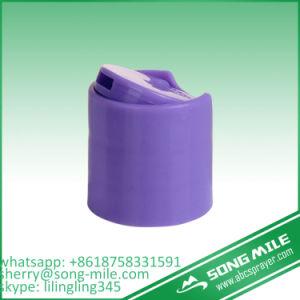 Purple Disc Top Cap Aluminum and Plastic Cap for Cosmetic pictures & photos