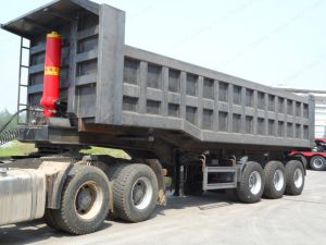 3 Axle Dump Semi Trailer 30ton-100ton Utility Truck Trailer pictures & photos