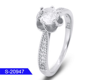 Wholesale New Design Fashion Jewelry 925 Sterling Silver Cubic Zirconia Ring for Wedding pictures & photos