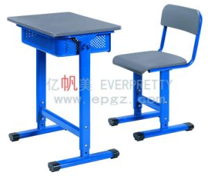 School Classroom Furniture Student Egg-Tube Adjustable Single Desk & Chair pictures & photos