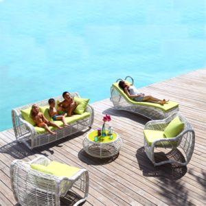Chinese PE Outdoor Sofa Rattan/ Wicker Sofa Garden Set S309 pictures & photos