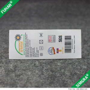 Custom Printing Polyester Satin Fabric Washing Instructions Labels pictures & photos