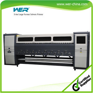 R 3.4m*8PCS Seiko Spt1020 1440dpi Max Heads for Banner Heavy Duty Large Format Solvent Printer pictures & photos
