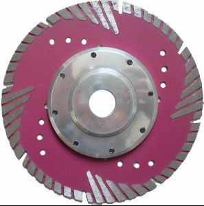 Diamond Triangle Turbo Saw Blade with Flange