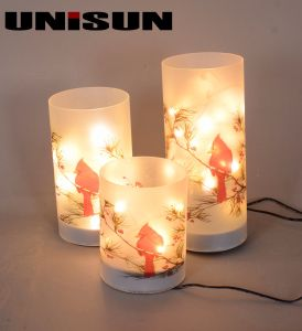 Christmas Decoration Light Glass Craft with Copper String LED Light for Wall Art (17110) pictures & photos
