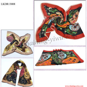 Cotton with Polyester Printed Scarf (LKDR13008)
