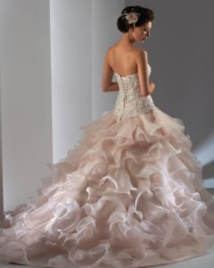 organza  Wedding Bridal Gown (C5032)