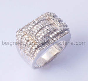 925 Sterliing Silver Zircon Rings Design for Men pictures & photos