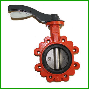 Rubber Seal Lug Type Cast Iron Butterfly Valve pictures & photos