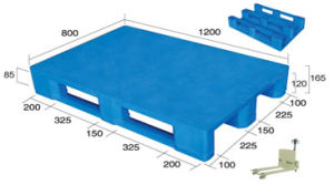 III Style Plastic Pallet (flat surface) pictures & photos