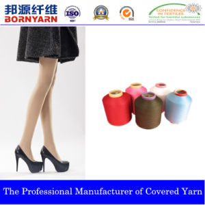 Spandex Covered Yarn with Polyester for Pantyhose pictures & photos