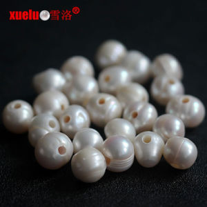 10-11mm Ringed Round Large Hole Cultured Pearls Beads Wholesale pictures & photos