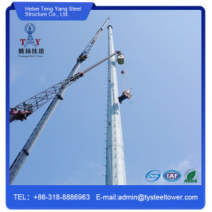 Galvanized Single Tube Monopole Tower for Telecom pictures & photos