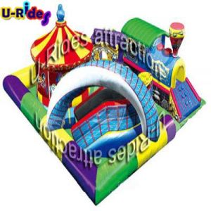 Circus and park Inflatable Playground with cartoon train pictures & photos