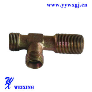 Straight Elbow T Type Fitting Bsp Male / Bsp Hydraulic Fitting Tube Fitting