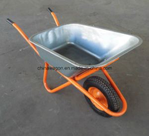 Agricultural Tools with Rubber Wheels Wheelbarrow Wb6404 pictures & photos