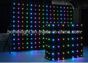 Fireproof LED Vision Curtain Cloth Video Curtain Cloth with CE pictures & photos