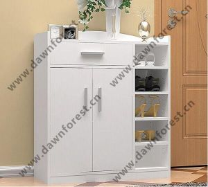 Two Doors Melamine MDF Simple Shoe Cabinet/Shoe Rack/Shoe Ark for Furniture pictures & photos