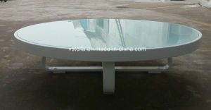 All Weather Garden Outdoor Aluminum Glass Low Table pictures & photos