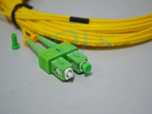 Sc/APC-Sc/APC Duplex Fiber Optic Patch Cable pictures & photos