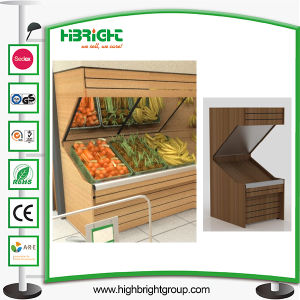 Supermarket Wooden Vegetable and Fruit Stand Shelving pictures & photos