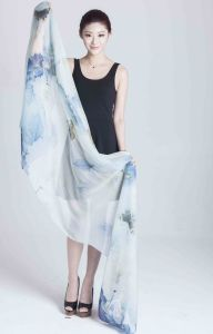 100% Silk Chiffon Scarf pictures & photos