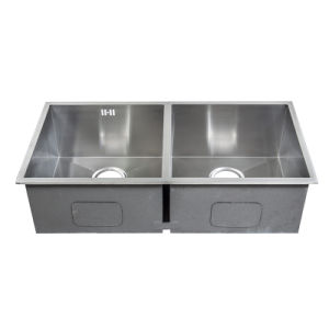 Handmade Double Sink, Stainless Steel Kitchen Sink (C86X44X23) pictures & photos