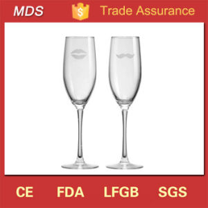 Home Goods Clear Glassware Champagne Glass with Logo pictures & photos