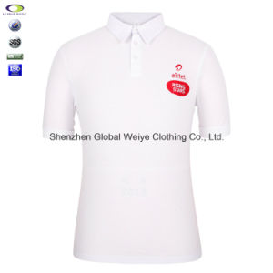 Double Mercerized Cotton White Polo Shirt