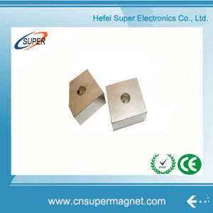 High Quality N38 Neodymium Block Magnet with Hole pictures & photos