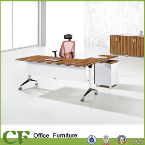 Folding Modern Office Desk with Fixed Pedestal pictures & photos